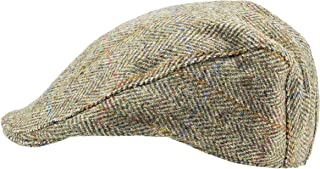 Harris Tweed.Made in Scotland.The Dundee 'Brad Pitt' Style Flat Cap.Made by Hanna Hats