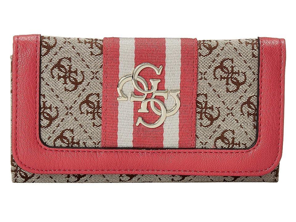 GUESS Vintage SLG Slim Clutch (Pink) Wallet Handbags