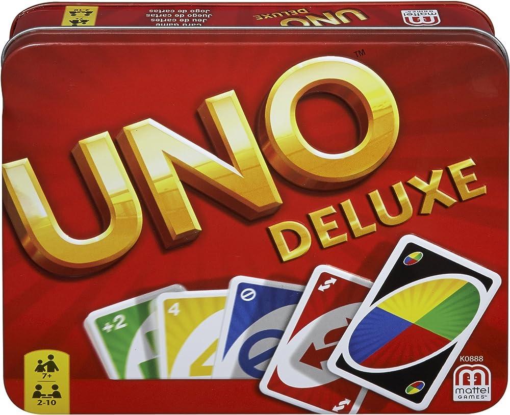 Mattel games,uno deluxe gioco di carte per 2-10 giocatori K0888