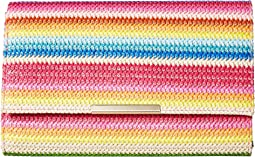 Jessica McClintock Nora Bright Stripe Clutch