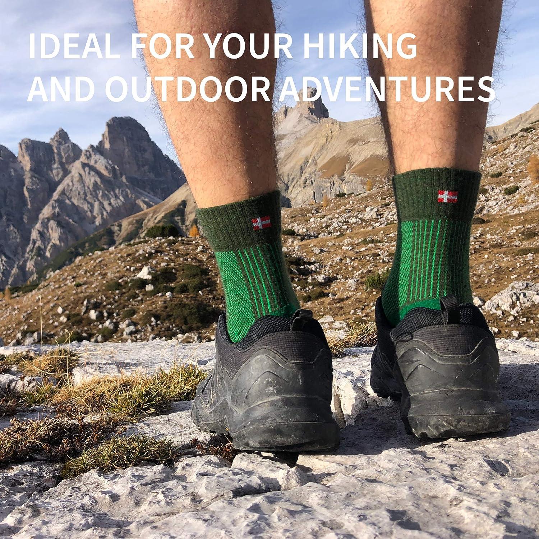 Lightweight Merino Wool Light Hiking Socks for Men Cushioned Breathable Trekking Women /& Kids 1 Pack Outdoor