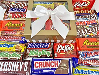 Candy Bar Bliss Gift Box Basket Prime for Chocolate Lovers Sweet Happy Birthday Valentine's Easter Christmas Thank You Off...
