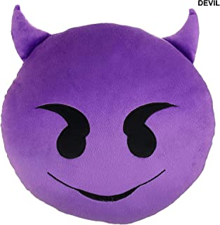 Devil Emoji Pillow 9"