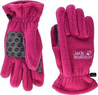 Jack Wolfskin Unisex-Child Fleece Glove Kids, Pink Peony, 7-8Y