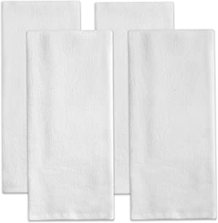 Sticky Toffee Cotton Terry Kitchen Dish Towel, 4 Pack, White, 28 in x 16 in