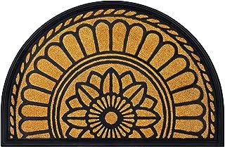 Mibao Half Round Door Mat, Non-Slip Welcome Entrance Way Rug, Durable Rubber Door Mats, Low-Profile Heavy Duty Doormat, Ha...