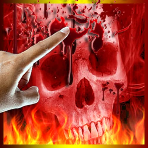 Skull Blood Drip on Fire LWP
