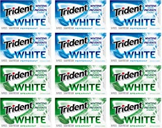 Sponsored Ad - Trident White Sugar Free Gum Variety Pack, Peppermint & Spearmint Flavors, 12 Packs (192 Pieces Total), 18 ...