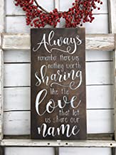 CELYCASY Always Remember There was Nothing Worth Sharing, Love Quote, Avett Brothers Lyric, Song, Adoption Day, Photo Prop, Anniversary Sign, Gift