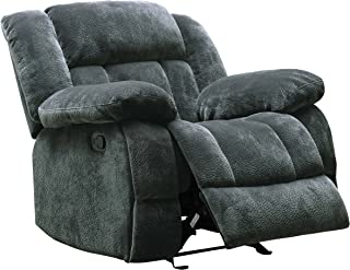 "Homelegance Laurelton 43"" Microfiber Glider Recliner Chair, Gray"