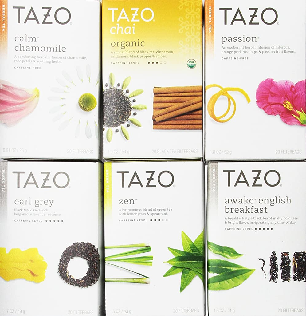 Tazo Assorted Tea Sampler 20ct (Pack of 6) wknkk9143
