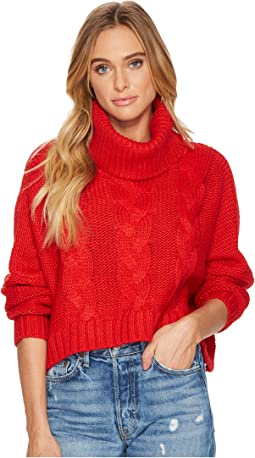 Jack by BB Dakota - Hobie Cable-Knit Cropped Sweater