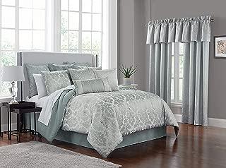 Marquis By Waterford Surrey Comforter Set, Queen, Steel