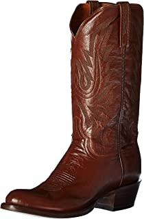 Lucchese Mens Carson Leather Cowboy Boot