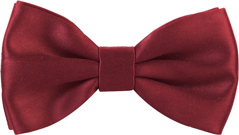 Peluche Men's Cotton Essential Bowtie (Maroon, Free Size)