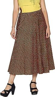 Pezzava Women's Calf Length Wrap Skirt(Free Size)
