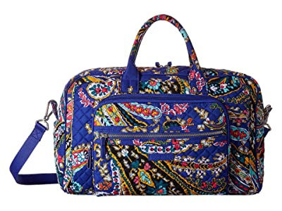 Vera Bradley Iconic Compact Weekender Travel Bag (Romantic Paisley) Weekender/Overnight Luggage
