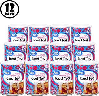 (Pack of 12) Great Value Iced Tea Drink Mix, Natural Raspberry, 26.8 oz