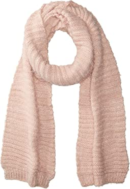 BCBGeneration - Horizontal Rib Feather Long & Skinny Scarf