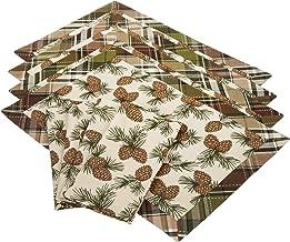 DII Pinecone Lodge بياضات مطبوعة، مجموعة من 8 قطع