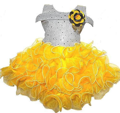 Fancy Dress Net Fabric Ethnic Wear Dress for Baby Girls