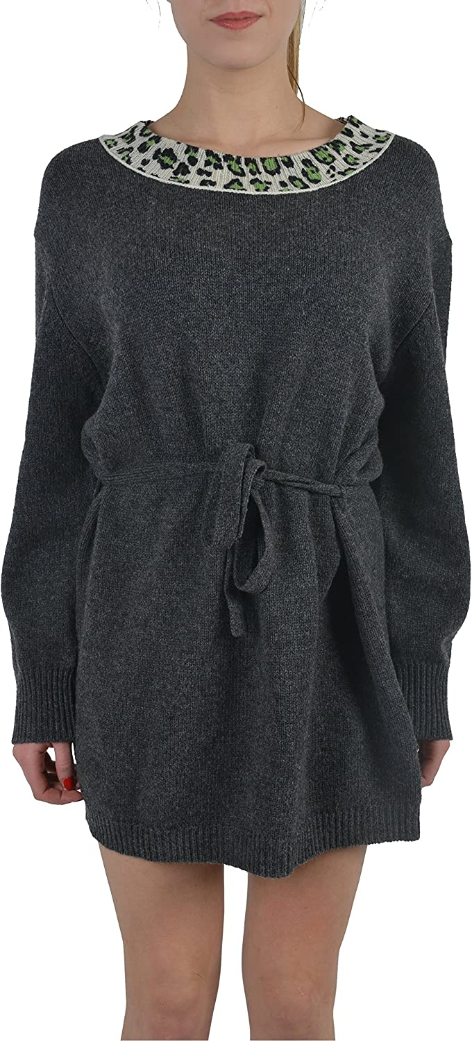 Just Cavalli 100% Wool Belted Knitted Women's Sweater Dress US S IT 40