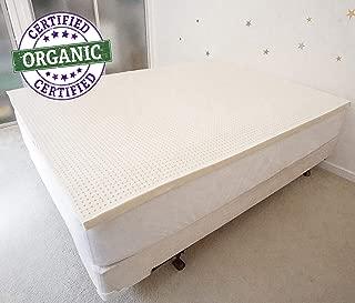 PureTree 100% Organic Natural Latex Mattress Topper - GOLS Certified - 2