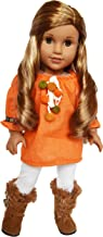 Brittany's My Fall Spice Tunic and White Leggings Compatible with American Girl Dolls-18 Inch Doll Clothes