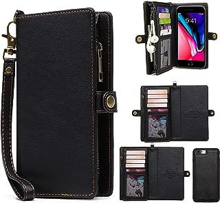 MIncYB iPhone 7 Plus Wallet Case, iPhone 8 Plus Flip Case, Magnetic Detachable Wallet Case for iPhone