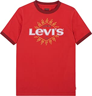 Levi's Boys' Big Classic Graphic T-Shirt, Pompeian Red, L