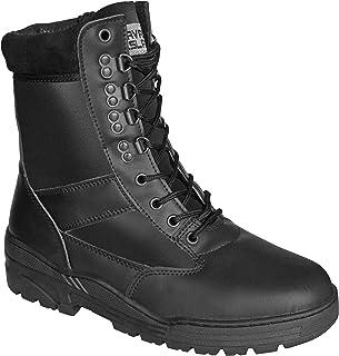 Savage Island Combat Boots Black Full Leather