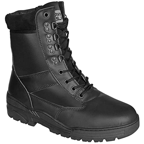 43869a7f19a Savage Island Combat Boots Black Full Leather