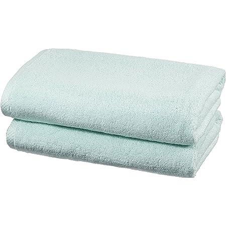 Amazon Basics Set de 2 draps de bain à séchage rapide - Bleu glace
