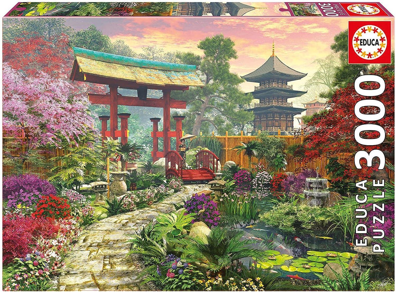 Educa 16019 - Puzzle - Japanischer Garten, D. Davison, 3000-Teilig