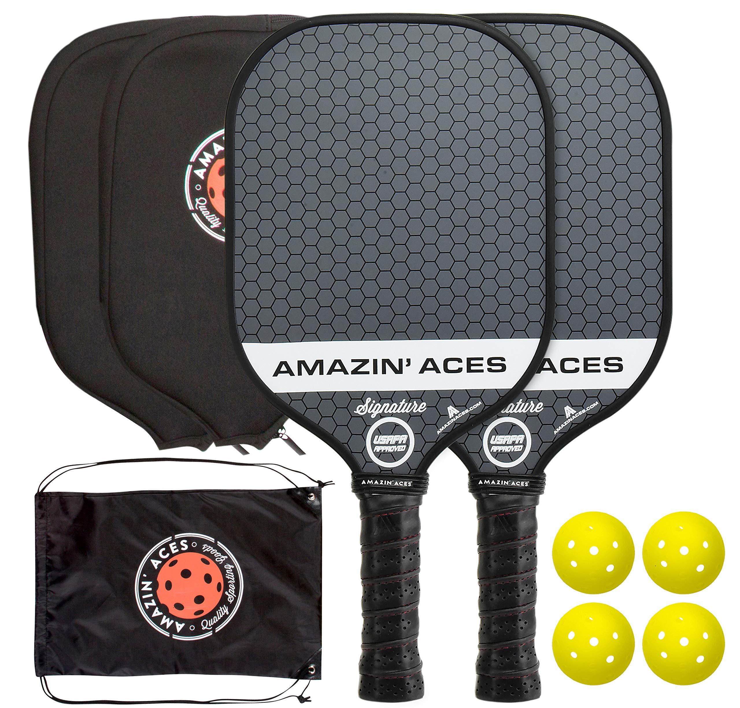 Amazin Aces Signature Pickleball Paddle Set USAPA App -5K1X