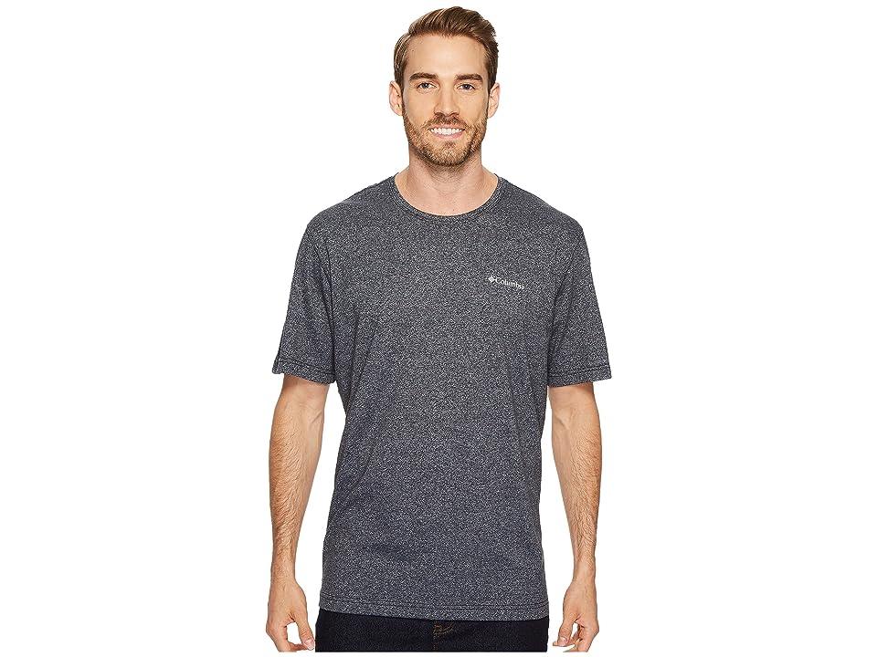 Columbia Cullman Crest Short Sleeve Shirt (Black/Cirrus Heather) Men