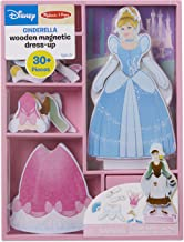 Melissa & Doug Disney Cinderella Magnetic Dress-Up Wooden Doll Pretend Play Set (Compact Storage Case, 30+ Magnets)
