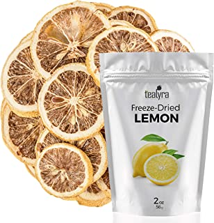 Lemon - Freeze Dried Fruits Snacks Chunks - Non-GMO - Gluten-Free - No Sugar Added - 100% Natural and Organically Processes - Tealyra
