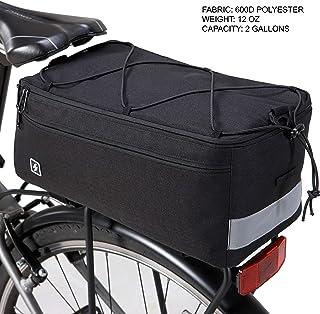 Sahoo Bolsa térmica para bicicletas, bolsa térmica para bagageiro de bicicleta para itens quentes ou frios, capacidade de ...