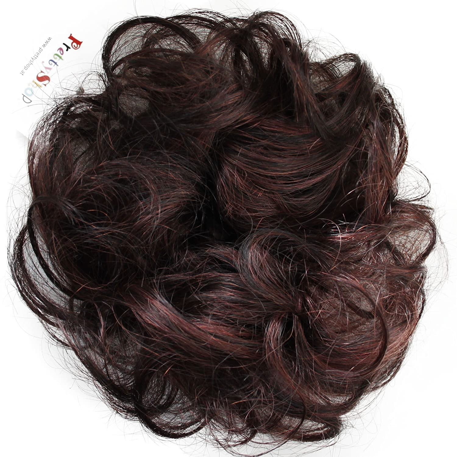 PRETTYSHOP 100% Human Hair Quality inspection Up Scrunchy Bla Scrunchie Extensions New item