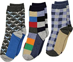 Funky Plaid Dress Socks 3-Pack (Toddler/Little Kid/Big Kid)