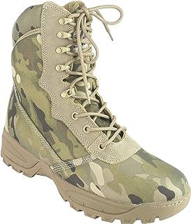 Savage Island Side Zip Combat Desert Camo Commander Boots