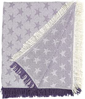 Martina home foulard multiusos- Plaid modelo Estrella - tela  230x260 cm color crudo lila