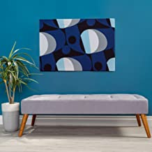 Christopher Knight Home Living Dillon Mid Century Modern Fabric Tufted Top Bench Ottoman (Grey), Light