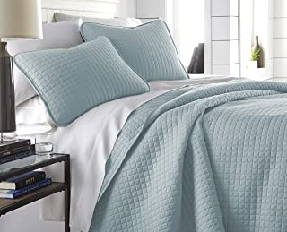 Southshore Fine Linens - Vilano Springs Oversized 2 Piece Quilt Set, Twin/Twin XL, Sky Blue