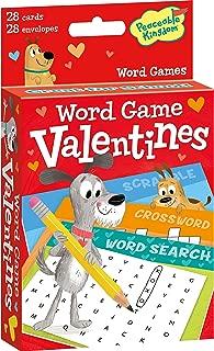 Peaceable Kingdom Word Game Dog Valentines - 28 Card Pack
