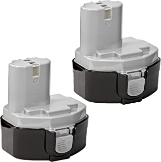 2 Pack ExpertPower 14.4v 3000mAh NiMh Extended Battery for Makita 1433 1434 1435 1435F..