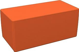 "ECR4Kids Softzone 18"" x 36"" Rectangle Ottoman - Furniture for Kids, Standard 16"" H, Orange"