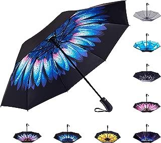 Inverted Reverse Sun&Rain Car Umbrella Large Windproof Travel UV Umbrella Women Men - Auto Open Close