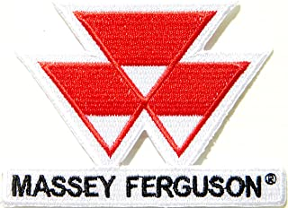 Massey Ferguson Tractor Farm Patch Iron on Sewing Embroidered Applique Logo Badge Sign Embelm Craft Gift